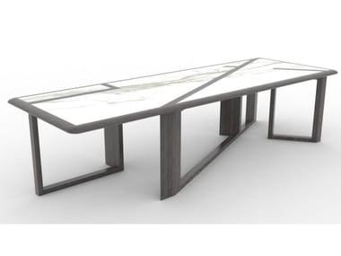 Tavolo rettangolare in ardesia ceramica PURE WOODEN | Tavolo