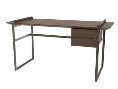 Rectangular wooden writing desk with drawers KNOWLEDGE | Writing desk