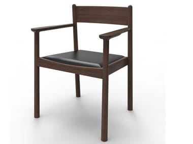 Cowhide chair with armrests PURE WOODEN | Chair