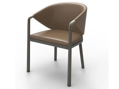 Cowhide chair with armrests ELEMENT COMBINATION | Chair