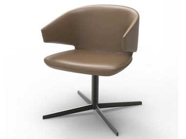 Swivel cowhide chair SELF-JOY | Chair