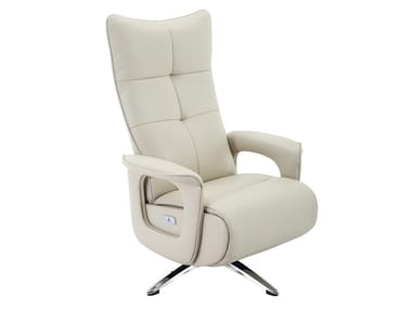Leather armchair with armrests US-175009PX001   Armchair