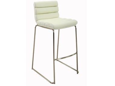 High upholstered sled base stool USBY-182032X000 | Stool