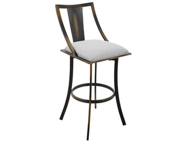 High metal stool with integrated cushion USBY-182038X000 | Stool