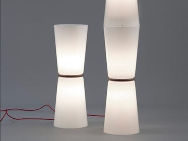 Floor lamp 100890 | Pilzkopfleuchte, red cable
