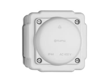 Bakelite junction box white 100923