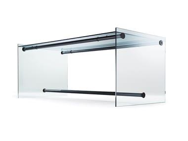 Scrivania rettangolare in vetro in stile moderno 1015 | Scrivania