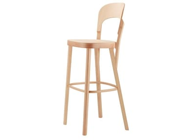 High wooden barstool 107 H