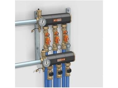 Heat pump and geothermal terminal 110 Distribution manifold