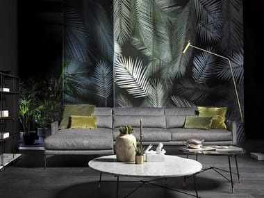 Sectional fabric sofa with chaise longue 110 MODERN | Sofa with chaise longue