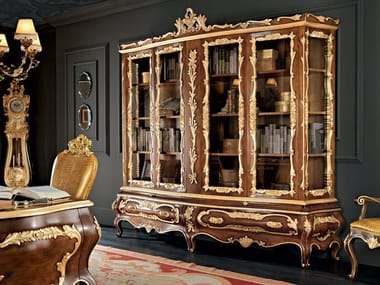 Solid wood bookcase with drawers 11301 | Bookcase