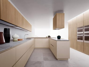 Fitted kitchen with peninsula VELVET ELITE | Kitchen with peninsula