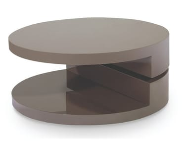 Lacquered round wooden coffee table with integrated magazine rack 116 | Coffee table
