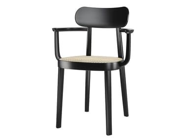 Sedia in legno massello con braccioli 118 F