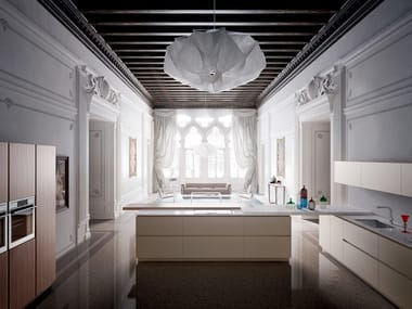 Fitted kitchen with island VELVET ELITE | Fitted kitchen