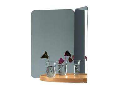 Rectangular mirror with shelf 124° MIRROR | Mirror with shelf
