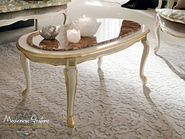 Low oval coffee table 12633 | Coffee table