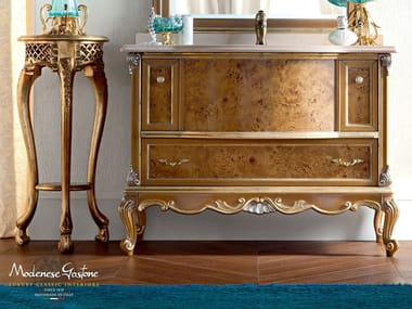 Single solid wood vanity unit with drawers 12676 | Vanity unit