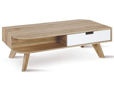 Rectangular wooden coffee table with storage space 127 | Coffee table