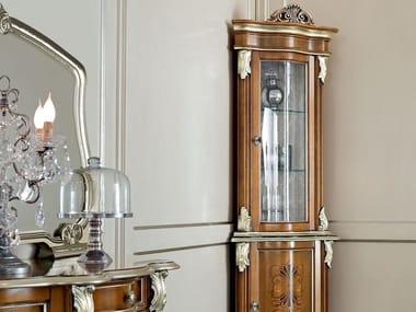 Wooden corner display cabinet 13109 | Display cabinet