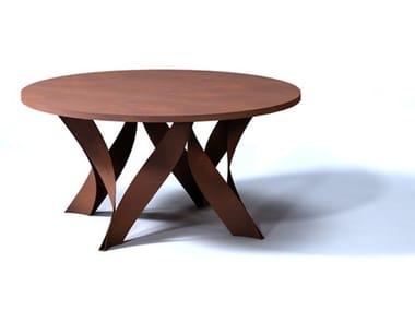 Round Corten™ table 134