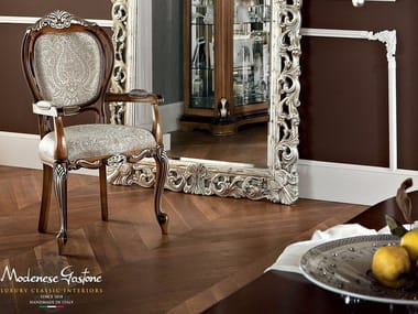 Baroque Upholstered Fabric Chair With Armrests 13509 | Chair