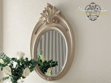 Baroque wall-mounted framed oval mirror 13676 | Mirror