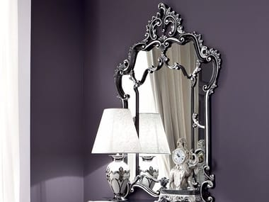 Rectangular wall-mounted framed mirror 13678 | Mirror