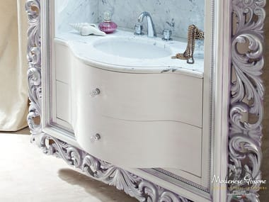 Wall-mounted vanity unit with drawers with mirror 13698 | Vanity unit