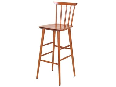 Beech stool with back WEST | Stool