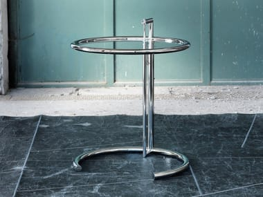 Crystal and stainless steel coffee table 1409 | Coffee table