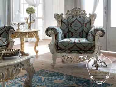 Fabric armchair with armrests 14435   Armchair