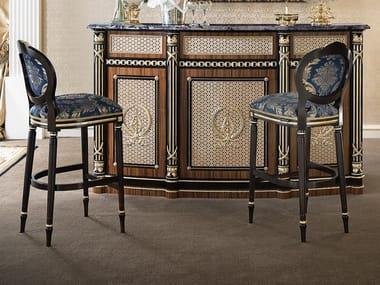 Upholstered fabric barstool 14523 | Barstool