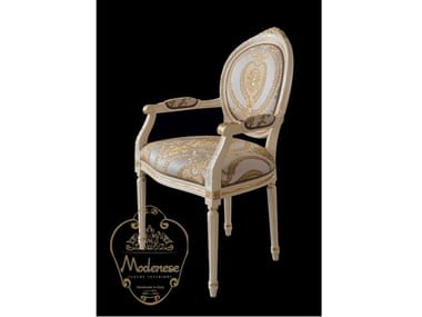 Upholstered fabric chair with armrests 14533   Chair with armrests
