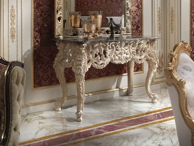 Rectangular wooden console table 14609 | Console table