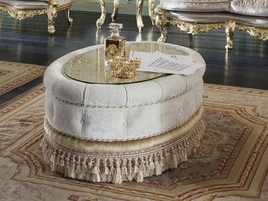 Oval fabric coffee table 14617   Oval coffee table