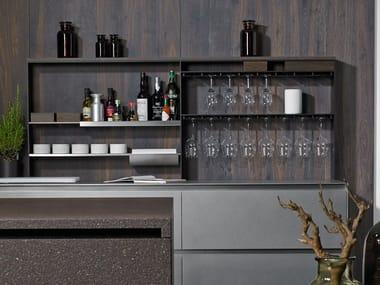 Trasera de cocina equipada de aluminio 15 SQUARE | Trasera de cocina