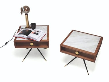 Square bedside table with drawers 1500 SWING | Bedside table