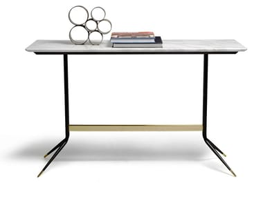 Contemporary style rectangular marble console table 1500 SWING | Console table