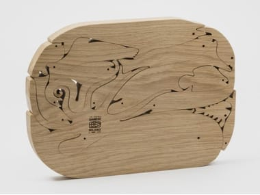 Solid oak wooden puzzle 16 PESCI