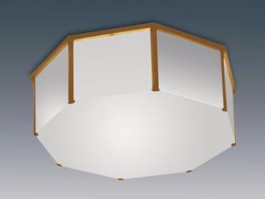Plafonnier en verre pour éclairage direct 167 | Plafonnier