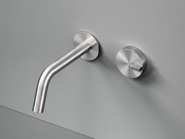 Wall-mounted stainless steel washbasin mixer Q. 18 10