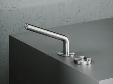 Countertop stainless steel washbasin mixer Q. 18 31