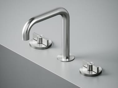 3 hole stainless steel washbasin tap with adjustable spout Valvola01_19 31V