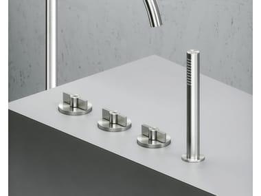 Robinet pour baignoire en acier inoxydable à cartouche progressive avec douchette Valvola01_19 99