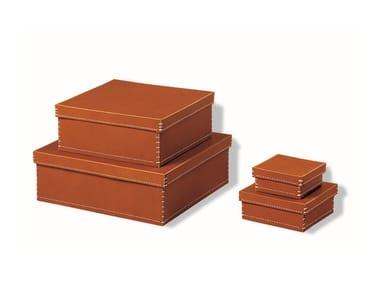 Tanned leather storage box 1981 QUADRA | Storage box