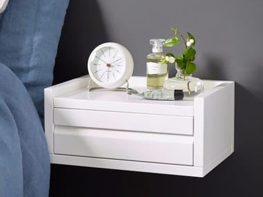 Rectangular wall-mounted bedside table with drawers 1KM DISPLAY | Bedside table with drawers