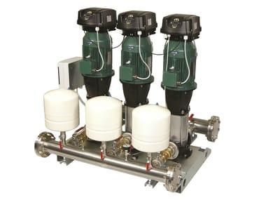 Gruppo a pressione costante con mce/p 2/3/4 NKVE 10-15-20-32-45 MCE/P