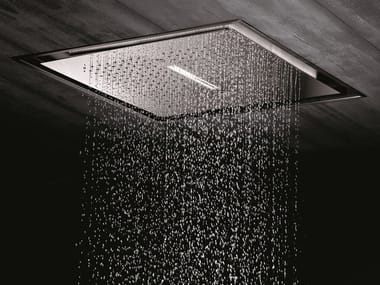 LED stainless steel waterfall shower 2-JETS HEAD SHOWERS | Built-in overhead shower