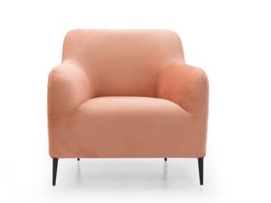 Fabric armchair with armrests A10 | Armchair